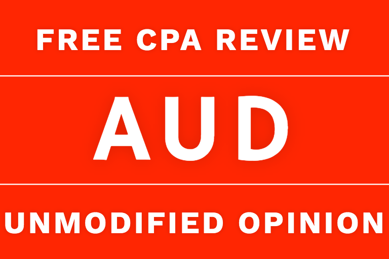 aud cpa review unmodified opinion