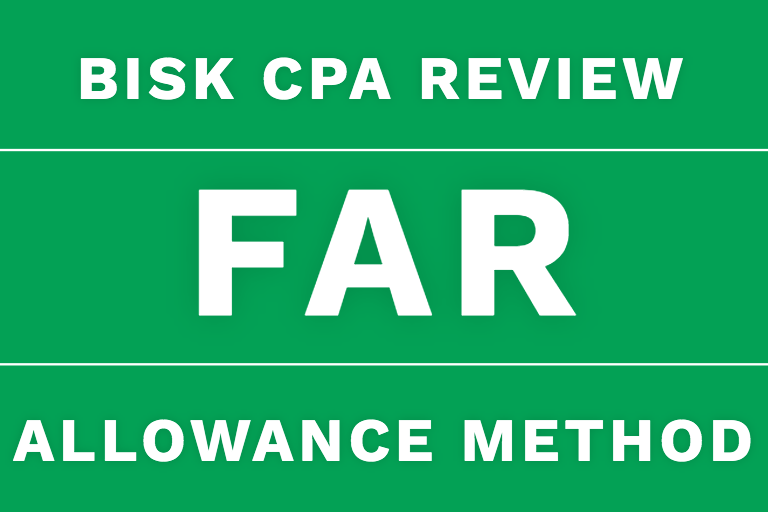 far cpa review allowance method bad debt