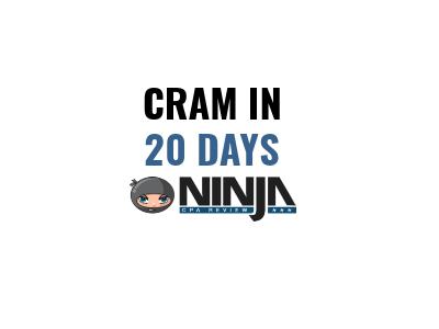 CPA Exam CRAM in 20 Days