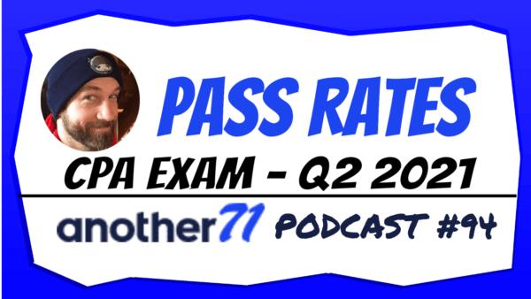 CPA Exam Pass Rates 2021